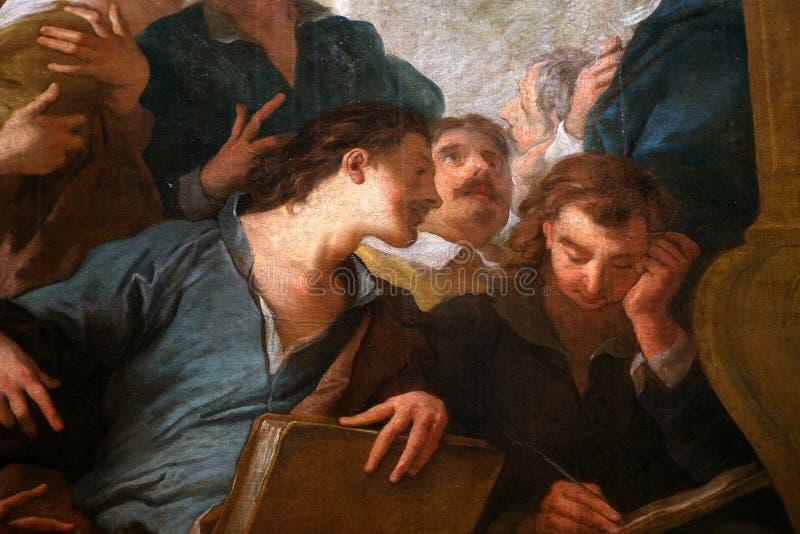 圣文森特教会,梅肯,法国内部  免版税库存图片