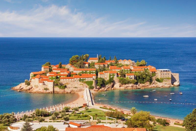 圣斯特凡岛海岛的看法在一个晴朗的夏日 ?? 免版税图库摄影