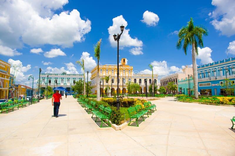 圣斯皮里图斯市,古巴- 2015年9月5日:拉丁语 库存照片