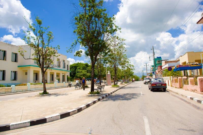 圣斯皮里图斯市,古巴- 2015年9月5日:拉丁语 图库摄影