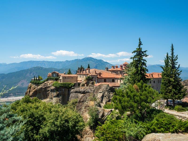 圣斯蒂芬修道院的看法在迈泰奥拉,希腊 免版税图库摄影