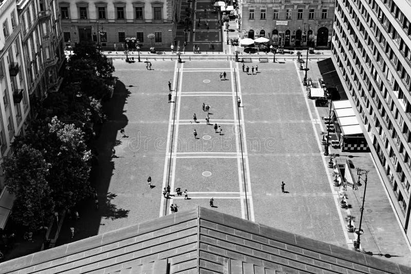 从圣斯蒂芬大教堂,布达佩斯的看法 免版税图库摄影