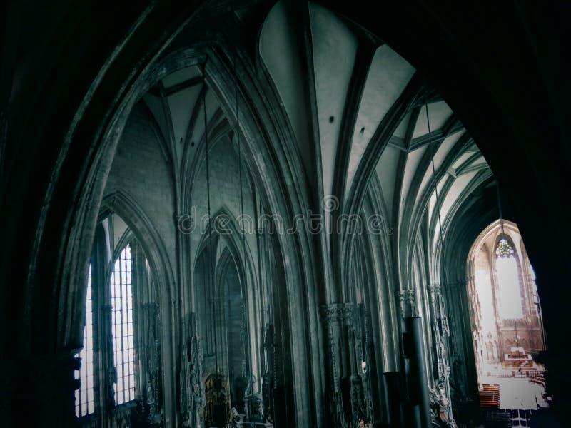 圣斯蒂芬的大教堂曲拱  免版税库存图片