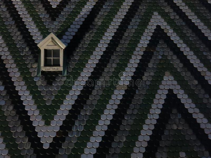 圣斯蒂芬的大教堂铺磁砖了屋顶 免版税库存照片