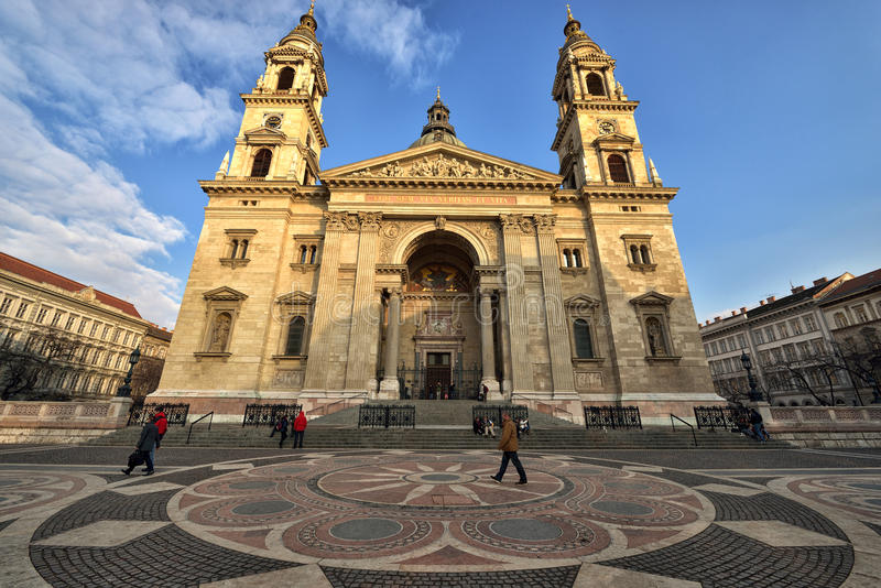 圣斯蒂芬的大教堂,布达佩斯 免版税库存照片