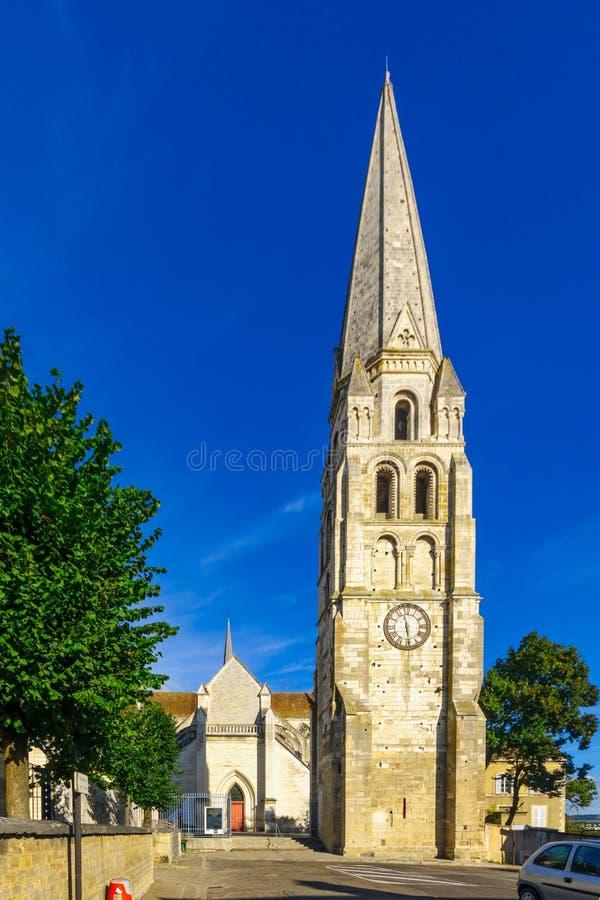 圣日耳曼修道院,在欧塞尔 免版税库存照片