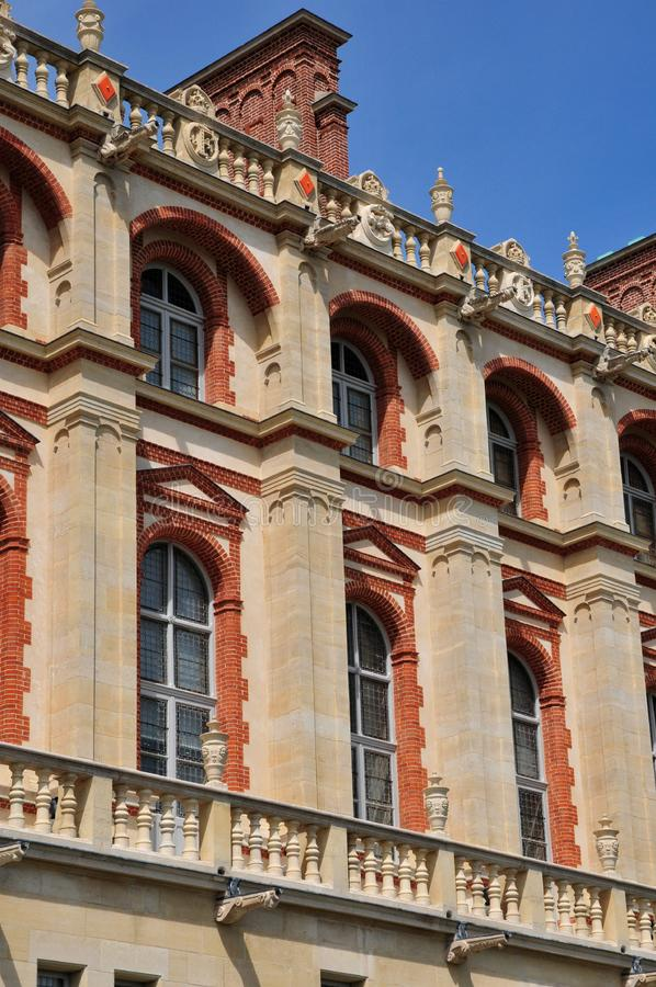 圣日耳曼en Laye,法国-可以2 2016年:历史老塑象 库存图片