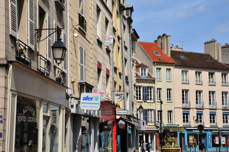 圣日耳曼en Laye,法国-可以2 2016年:美丽如画的城市铈 库存图片