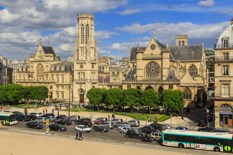 圣日耳曼l'教会; Auxerrois在巴黎 库存照片