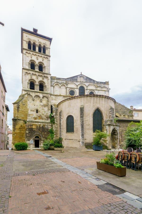 圣昂德雷le Bas Abbey,在维埃纳 免版税图库摄影