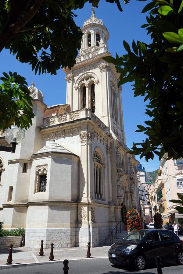 圣查尔斯教会在摩纳哥 免版税库存图片