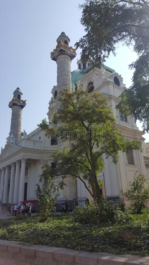 圣查尔斯教会 库存图片