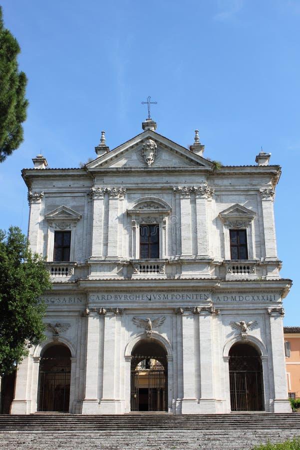 圣格雷戈廖马尼奥教会在罗马 图库摄影