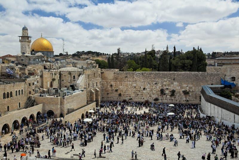 耶路撒冷圣殿山视图 免版税库存照片