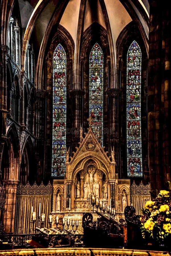 圣母主教座堂,爱丁堡,苏格兰 免版税图库摄影