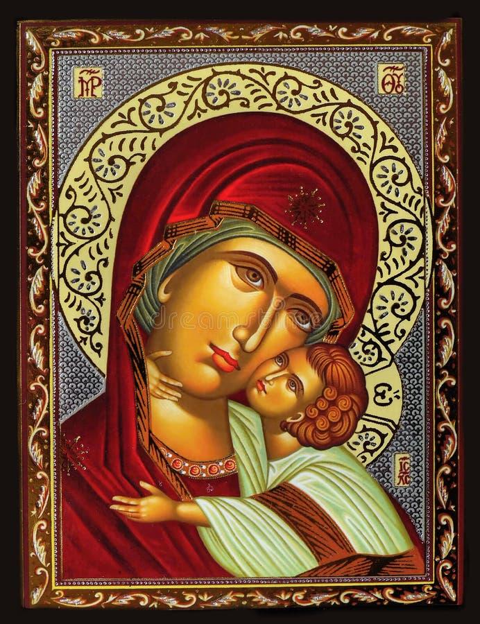 圣母玛丽亚和耶稣 库存图片
