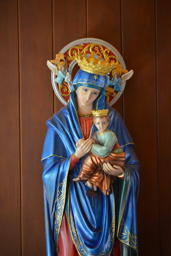 圣母玛丽亚天主教徒 免版税库存图片