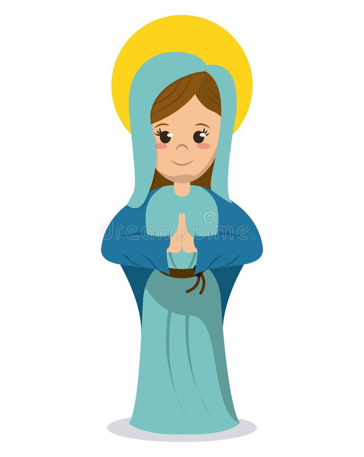 圣母玛丽亚宗教宽容图象 皇族释放例证