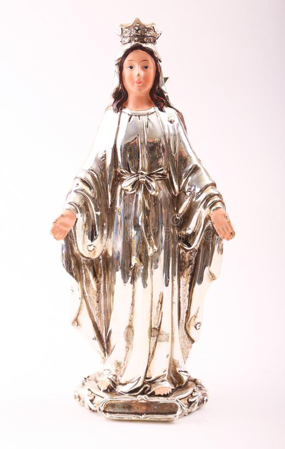 圣母玛丽亚小雕象 免版税库存图片