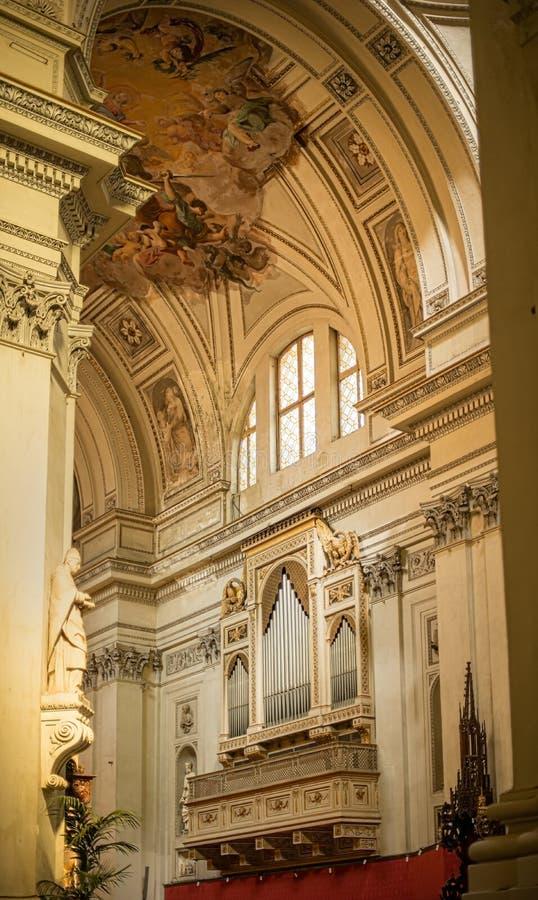 圣母玛丽亚的做法的大城市大教堂在巴勒莫 意大利西西里岛 库存图片