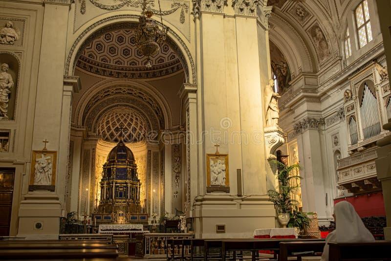圣母玛丽亚的做法的大城市大教堂在巴勒莫 意大利西西里岛 免版税库存照片