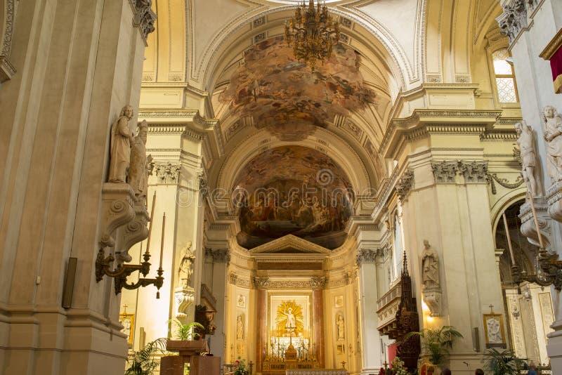 圣母玛丽亚的做法的大城市大教堂在巴勒莫 意大利西西里岛 免版税图库摄影