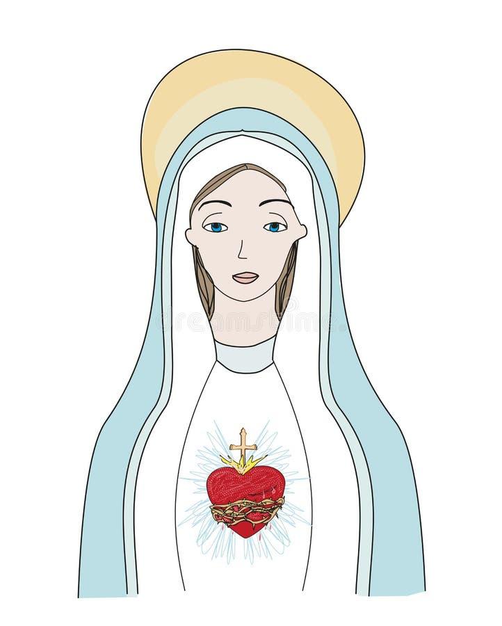 圣母玛丽亚的心脏 皇族释放例证