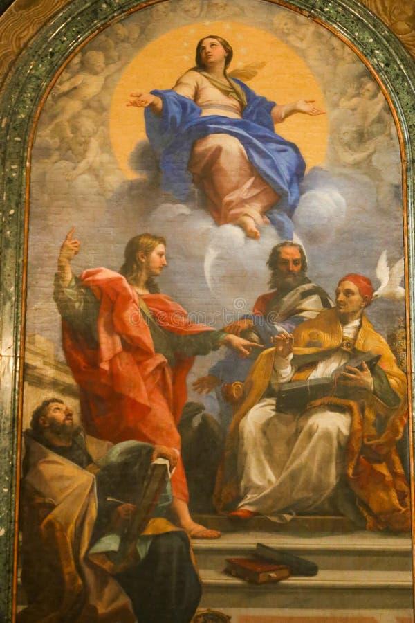 圣母玛丽亚绘画 库存图片