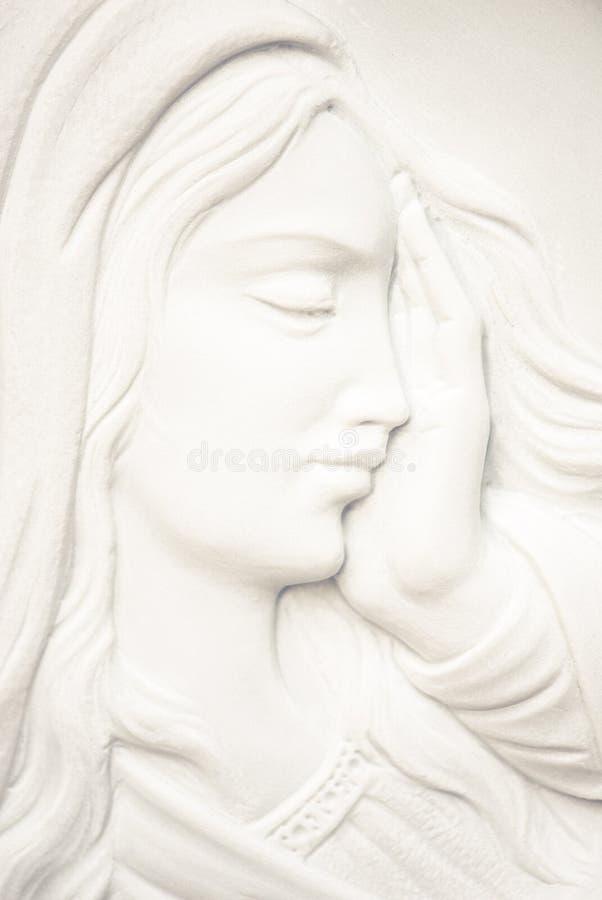 圣母玛丽亚面对 图库摄影