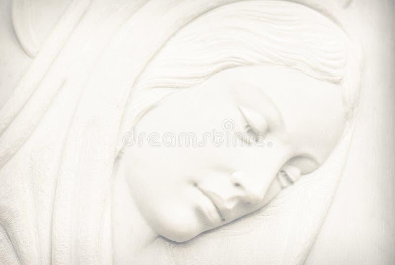 圣母玛丽亚面对 库存照片