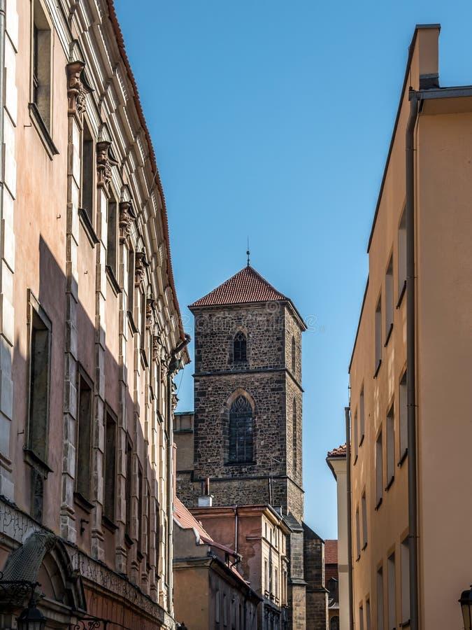 圣母玛丽亚,克沃兹科,波兰的做法的教会 库存图片