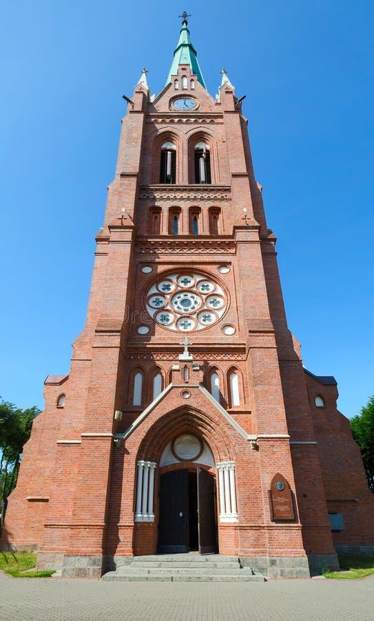 圣母玛丽亚,帕兰加上生天主教会  免版税库存图片