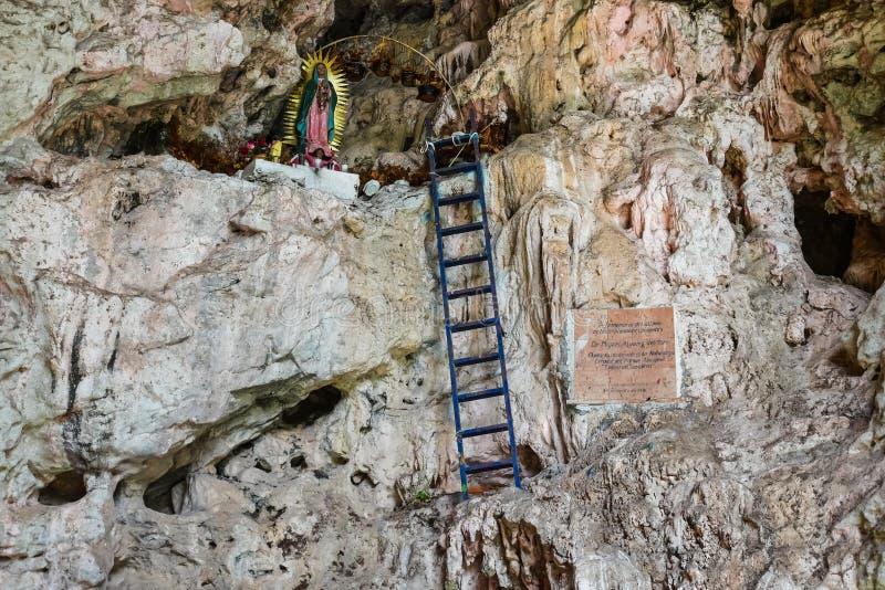圣母玛丽亚,苏米德罗峡谷-恰帕斯州,墨西哥 库存照片