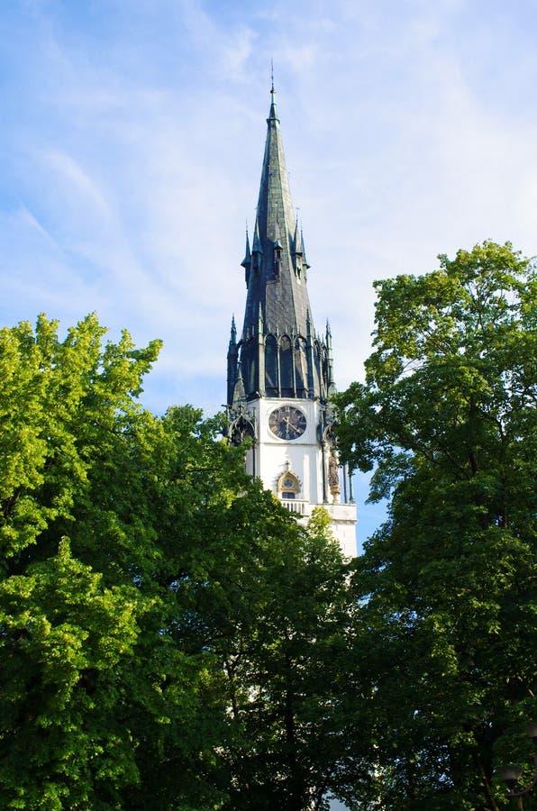 圣母玛丽亚, Spisska新星Ves,斯洛伐克的做法的教会 免版税库存图片