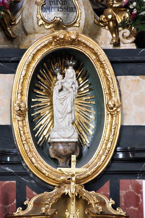 圣母玛丽亚Satue我们的雍容的夫人 图库摄影