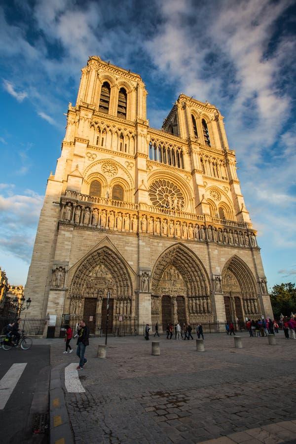 巴黎圣母院,法国 免版税图库摄影