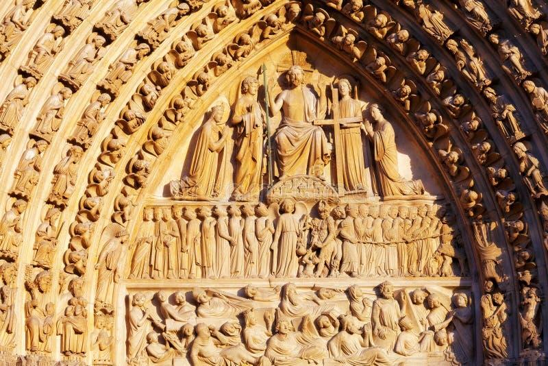 巴黎圣母院细节  库存照片