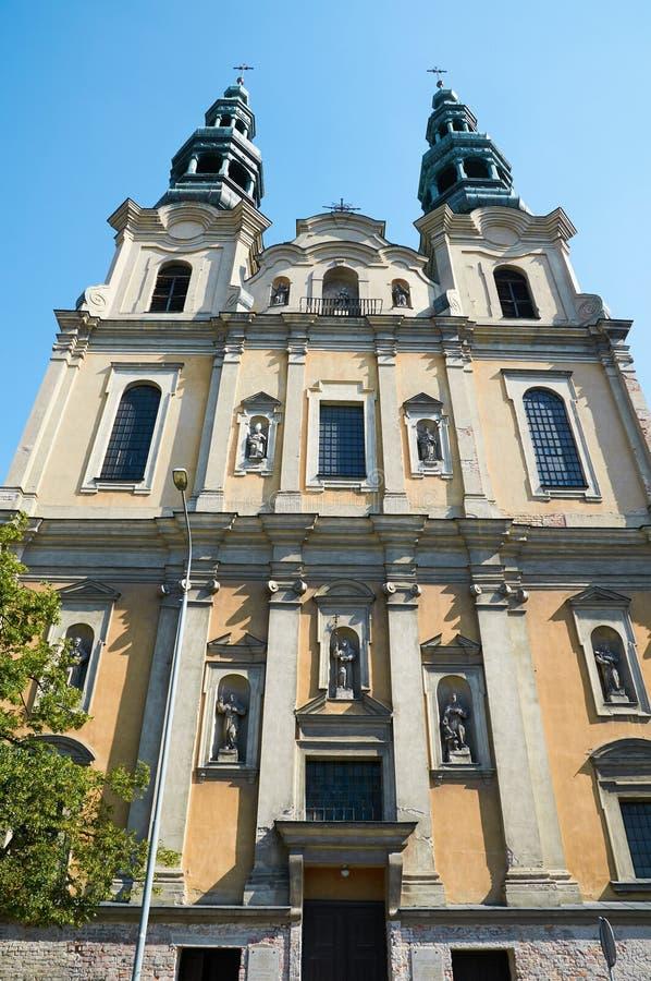 圣法兰西斯六翼天使教会 波兹南 库存图片