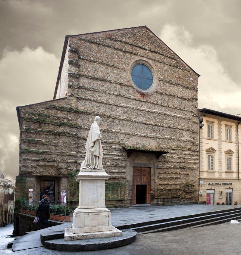 圣法兰西斯大教堂阿雷佐意大利 免版税库存图片
