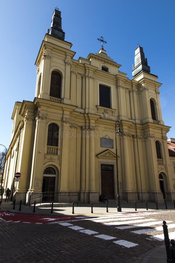 圣法兰西斯教会在华沙 库存照片