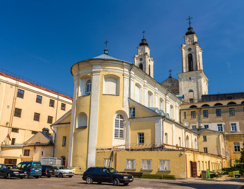 圣法兰西斯泽维尔教会在考纳斯 库存图片