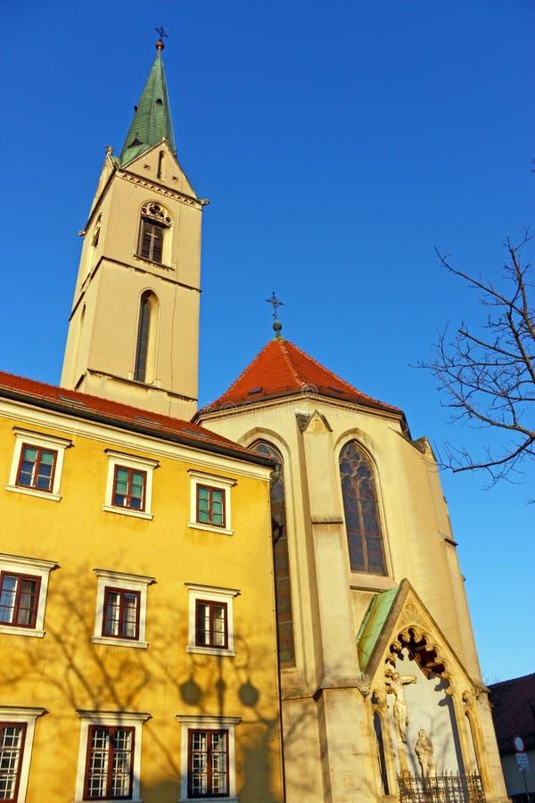 圣法兰西斯,萨格勒布教会  库存图片