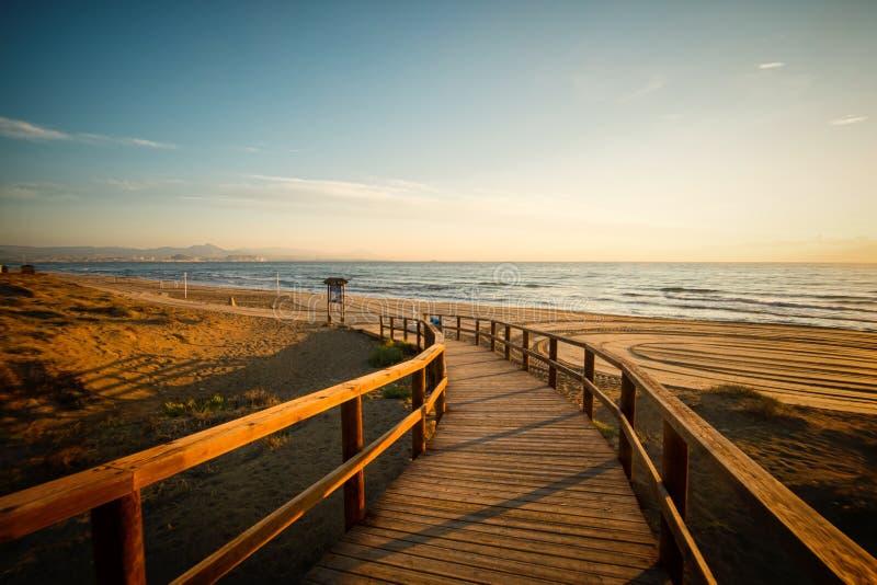 圣波拉海滩 免版税图库摄影
