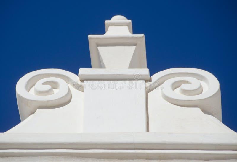 圣泽维尔del Bac Mission建筑细节  免版税库存照片