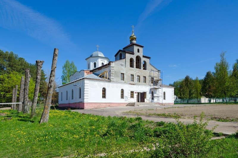 圣洁了不起的受难者和愈疗者Panteleimon教会在Ruba,维帖布斯克地区,白俄罗斯 免版税库存图片