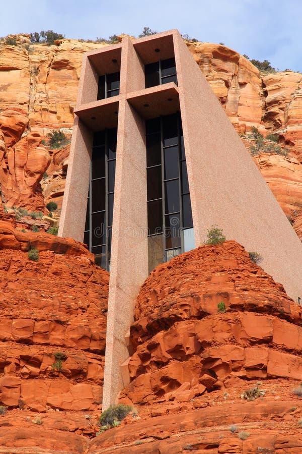 圣洁交叉的教会 库存图片