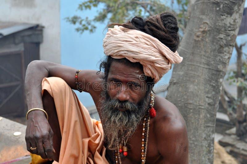 圣洁印度人sadhu 库存图片
