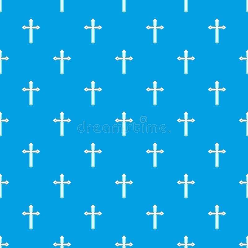 圣洁发怒样式无缝的蓝色 皇族释放例证