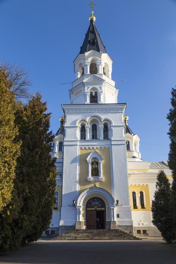 圣洁变貌大教堂 日托米尔Zhitomir 乌克兰 免版税库存图片