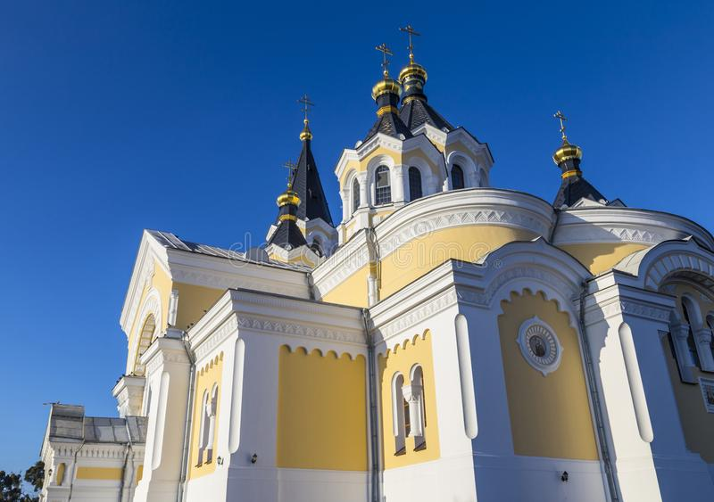 圣洁变貌大教堂 日托米尔Zhitomir 乌克兰 免版税库存照片